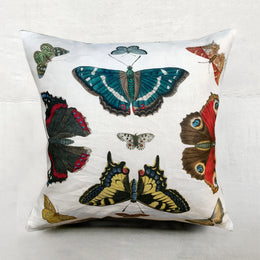 Mirrored Butterflies Carmine Pillow