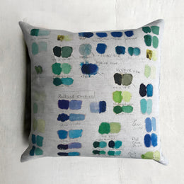 Mixed Tones Cobalt Pillow