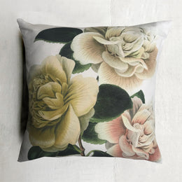 Camellia Folly Parchment Pillow