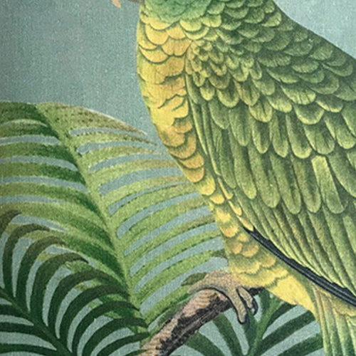 Parrot and Palm Azure Pillow