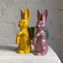 Glitter Bunnies With Baskets
