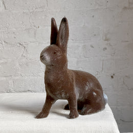 Papier-Mâché Seated Beaded Bunny