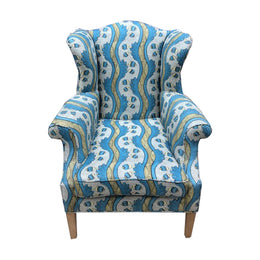 Antique Arm Chair in Antoinette Poisson Fabric
