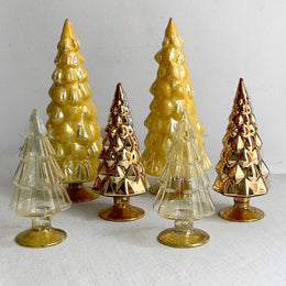 Set of 6 Small Hue Trees in Gold