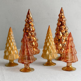 Set of 6 Small Hue Trees in Orange