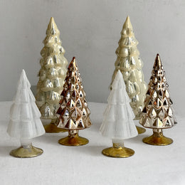 Set of 6 Small Hue Trees in Neutral