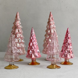 Set of 6 Small Hue Trees in Pink