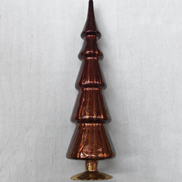 "17"" Standing Glass Tree in Brown"