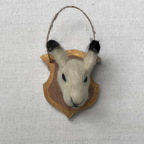 Felted Antelope Plaque Ornament