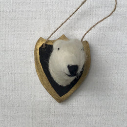Felted Polar Bear Plaque Ornament