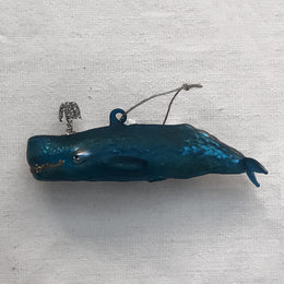 Dark Blue Whale Ornament