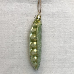 Yellow Green Garden Peas Ornament