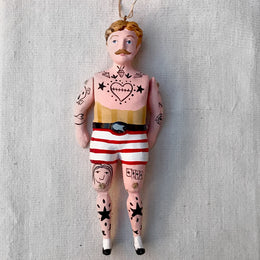 Hipster Sailor Ornament