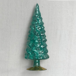 "11"" Standing Glass Tree in Teal"
