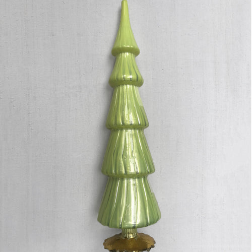 "17"" Standing Glass Tree in Yellow"