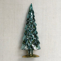 "9"" Standing Glass Tree in Blue"