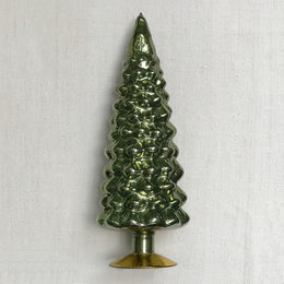"11"" Standing Glass Tree in Green"