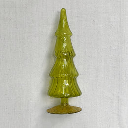 "8"" Standing Glass Tree in Green"