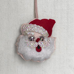 Retro Santa Ornament