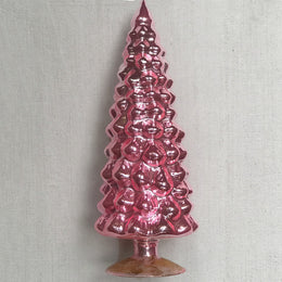 "11"" Standing Glass Tree in Pink"