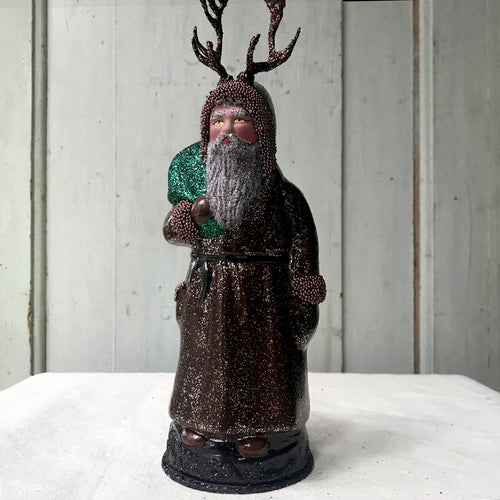 Krapas Santa with Brown Glitter Coat