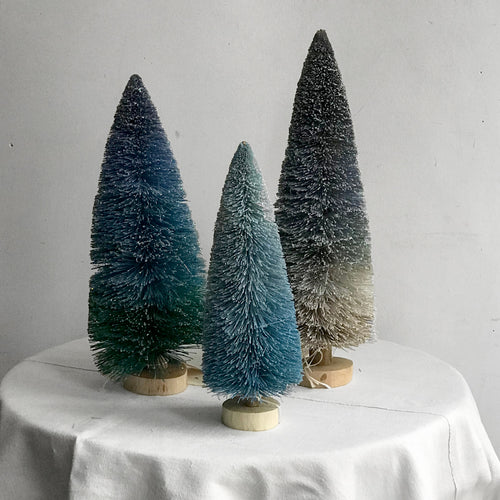 Glitter Buri Trees in Blue