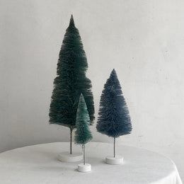 Set of 3 Rainbow Trees in Teal