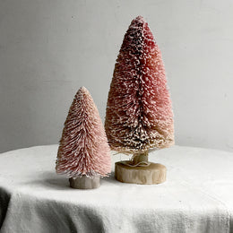 Gradient Glitter Buri Trees in Pink