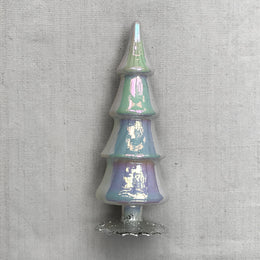 "8"" Standing Glass Tree in Moonglow"