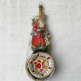 Victorian Santa with Bells Ornament