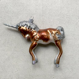Brown Unicorn Ornament