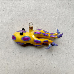 Yellow & Purple Squid Ornament