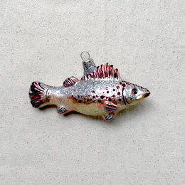 Pink & Gray Fish Ornament