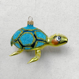 Yellow & Blue Turtle Ornament
