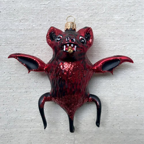 Red Bat Ornament