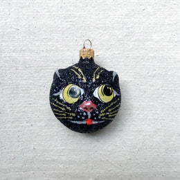 Black Cat Head Ornament
