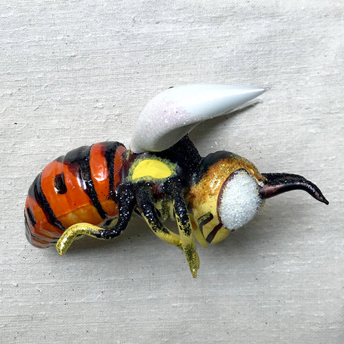 Orange & Yellow Bee Ornament