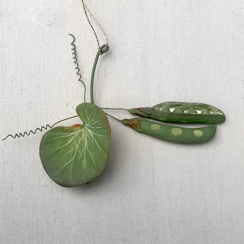Pea Pod Ornament