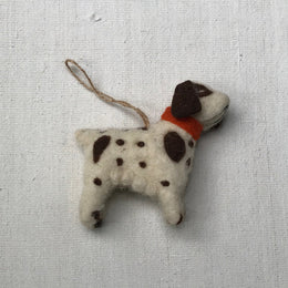 Dog with Orange Collar Ornament