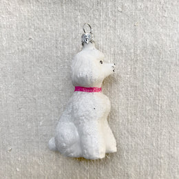 White Poodle Ornament