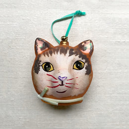 Nathalie Lété Yellow Cat Head Ornament