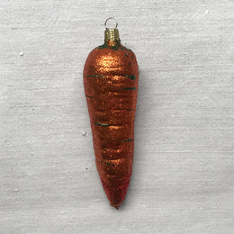 Carrot with Glitter Ornament