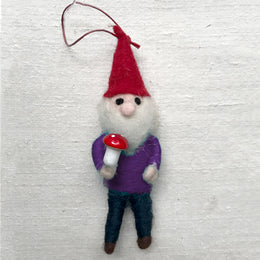 Forrest Gnome in Green Ornament
