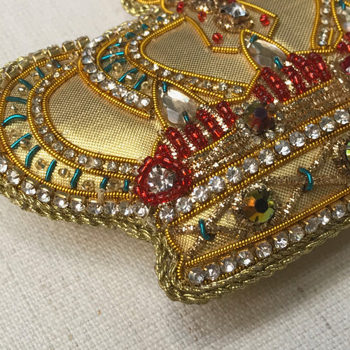 Beaded Gold Crown Ornament