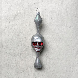 Skull on Bone Ornament