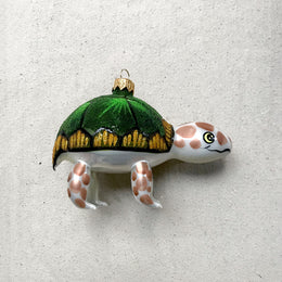 Green & Brown Turtle Ornament
