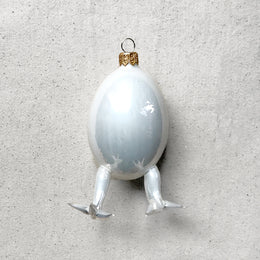 Egg with Legs Ornament