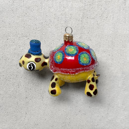 Turtle with Hat Ornament