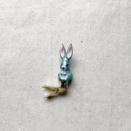 Small Gray Bunny Clip-On Ornament