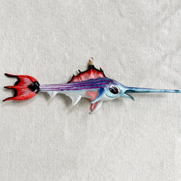 Purple & Pink Marlin Ornament